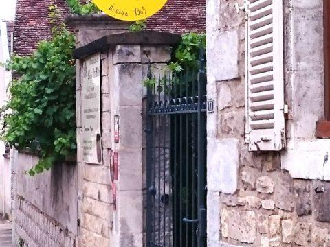 Enseigne-en-fer-forgé,-panneau-en-acier-peint,-Domaine-Le-Clos-du-Roi,-89