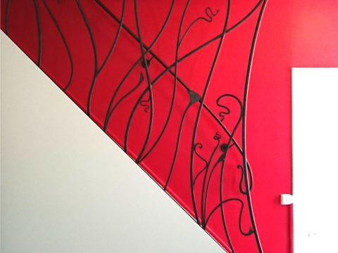 rampe-descalier-en-fer-forgé-style-art-nouveau