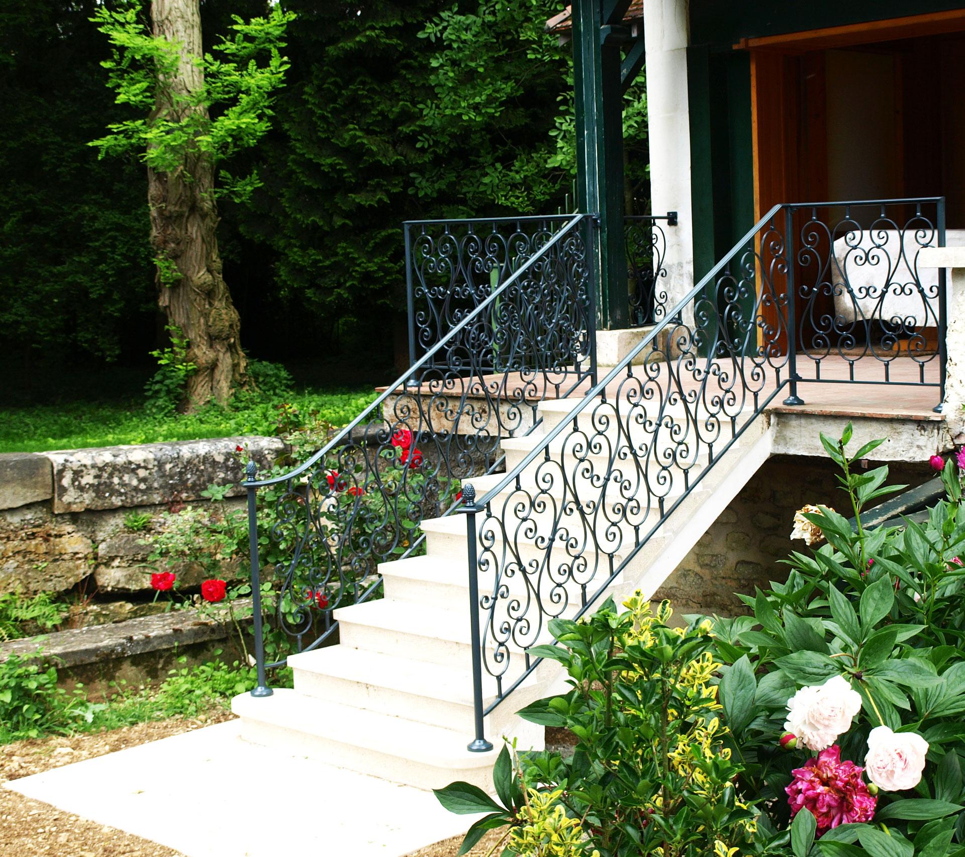 Aménagement Extérieur - escalier et garde corps jardin