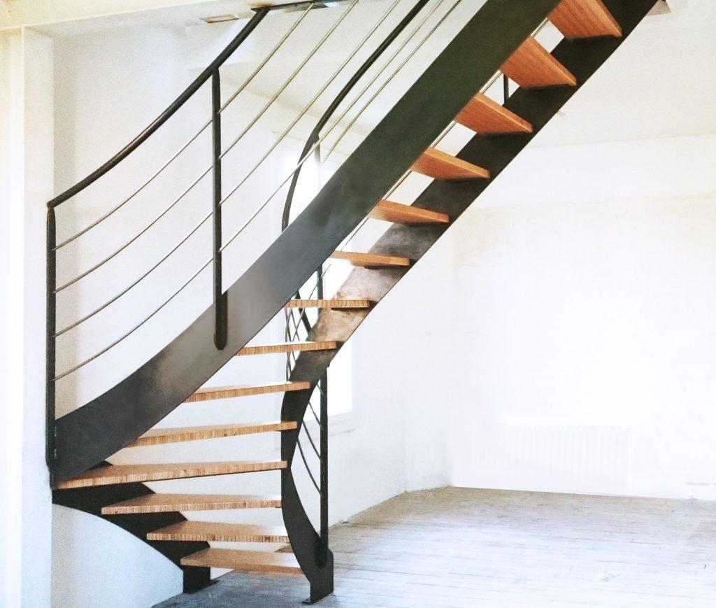 Aménagement Intérieur - Escalier Bois Metal